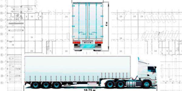 Габариты грузовых автомобилей